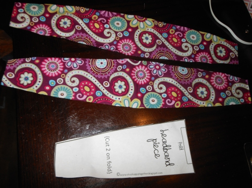 DIY Head Band or Belt pattern was Fabric Flowers