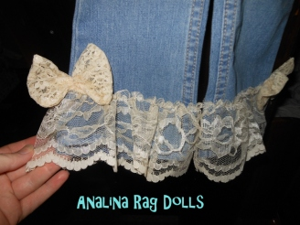 adding lace to jeans