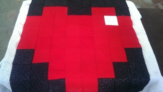 DIY tutorial of sewing Minecraft quilt Blocks Heart