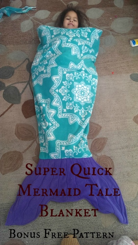 mermaid tale blanket Fleece DIY