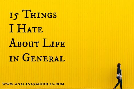 15 things I hate about life in general