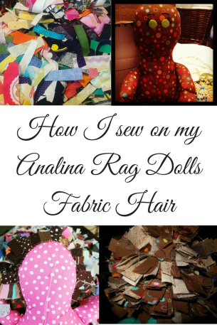 How I sew on my Analina Rag Dolls Fabric Hair