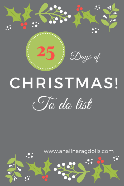 25 days of christmas to do list