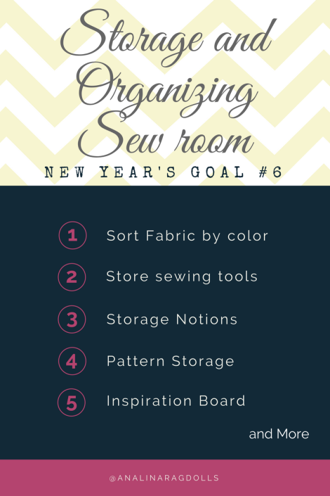 One for my new year's goals - Storage and Organizing Sewing Room
