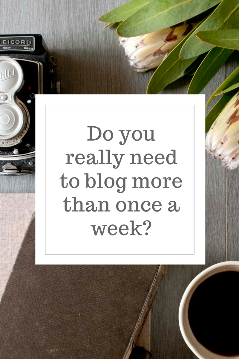 Do you really need to blog more than once a week?