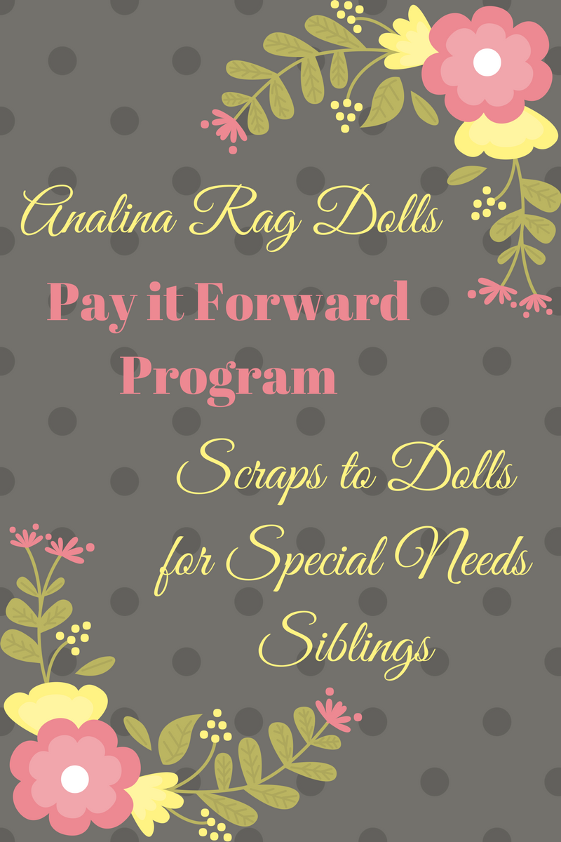 Analina Rag Dolls Pay it forward program