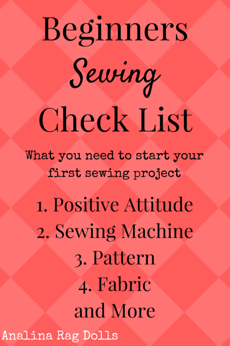 Beginners Sewing Check List